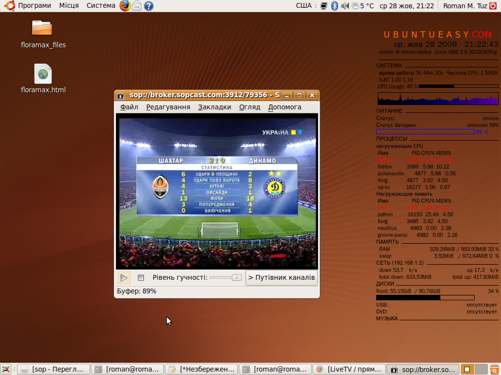 SopCast Player для Ubuntu Linux